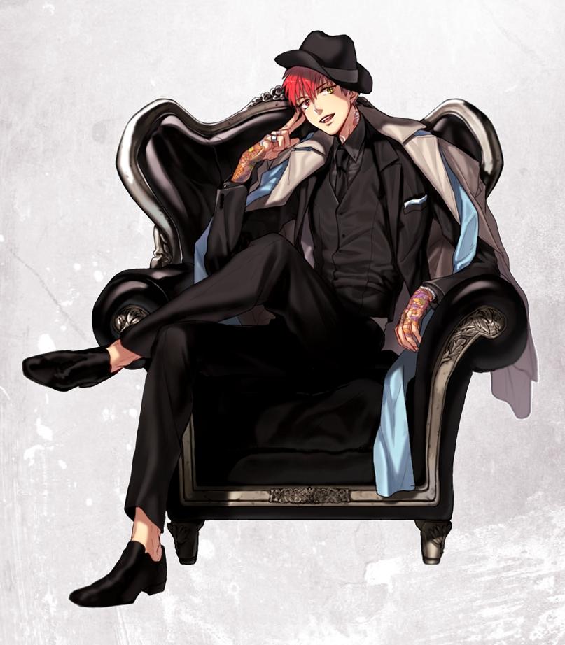 Аниме картинки парень на стуле