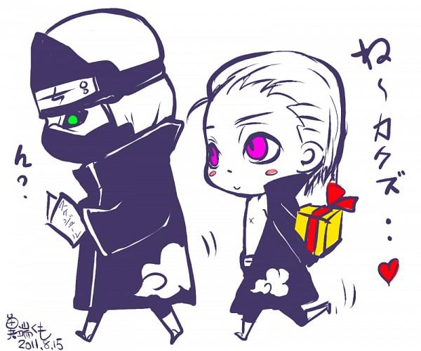 Tags: Anime, NARUTO, Kakuzu, Hidan, Walking, Gift, Slicked Back Hair