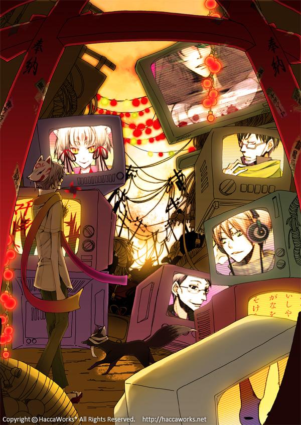 Tags: Anime, Akaya Akashiya Ayakashino, Sagano, Tougo Tsubaki, Akiyoshi (Akaya Akashiya Ayakashino), Satou (Akaya Akashiya Ayakashino), Yue (Akaya Akashiya Ayakashino), Mikoto (Akaya Akashiya Ayakashino), Pinwheel
