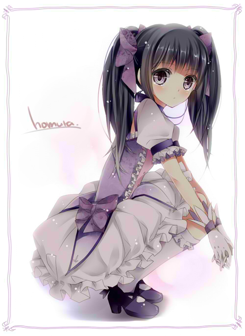 Tags: Anime, Shuua, Mahou Shoujo Madoka☆Magica, Akemi Homura, Kaname Madoka (Cosplay), Fanart, Mobile Wallpaper, Pixiv