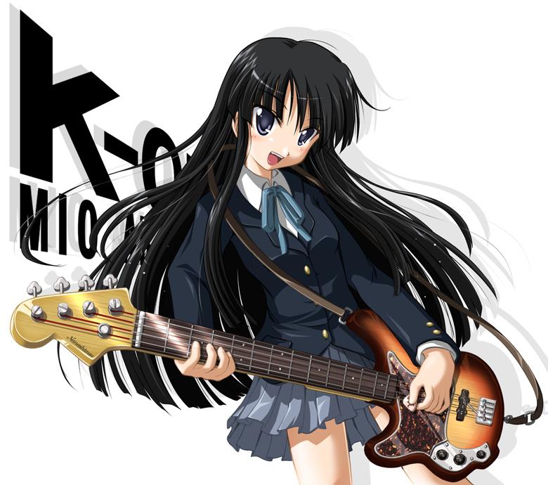 K-ON   Akiyama Mio  Guitar  K On Mio Guitar