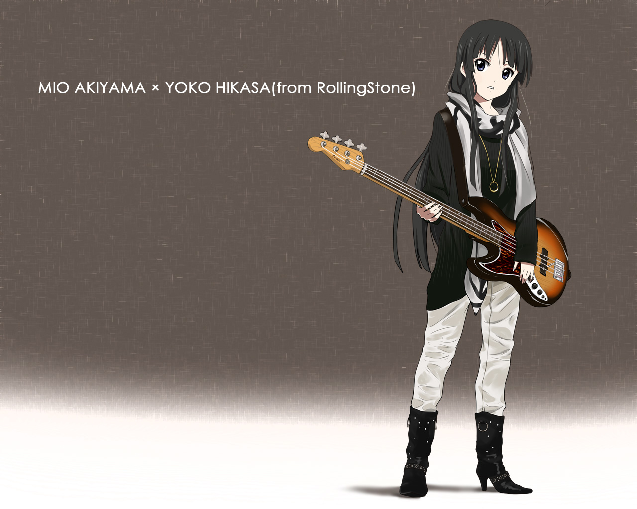Tags Anime  Saitoyu00  K-ON    K On Mio Guitar