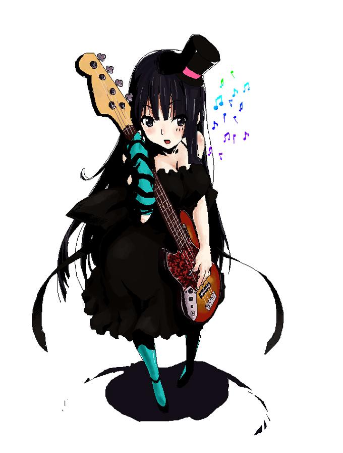 K-ON   Akiyama Mio  Top  K On Mio Guitar