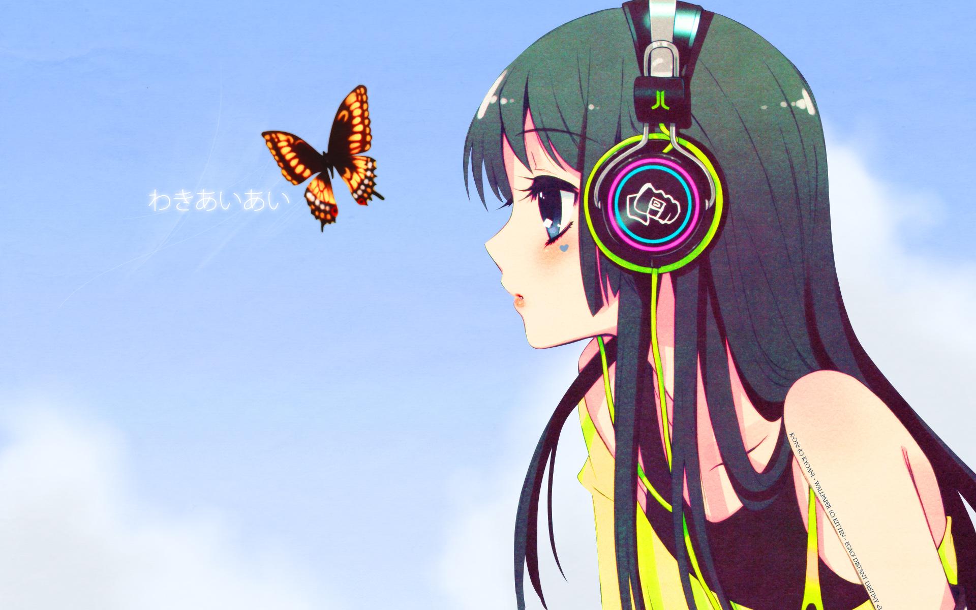 Картинки на аву аниме девушки с наушниками