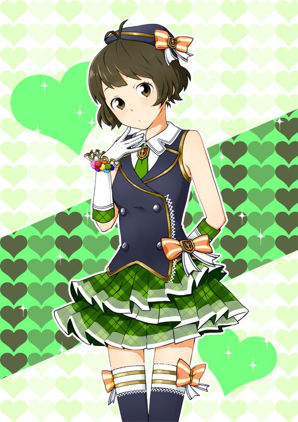 Tags: Anime, Pixiv Id 2377666, Namco, THE iDOLM@STER, Akizuki Ryou, Hanatsuka, Mobile Wallpaper
