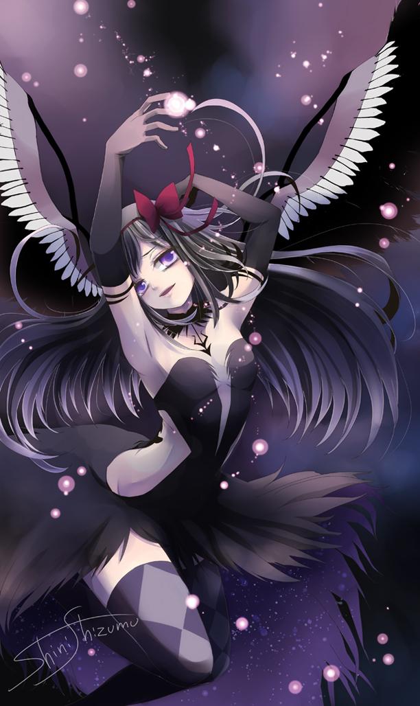 Tags: Anime, Pixiv Id 687869, Mahou Shoujo Madoka☆Magica, Akuma Homura, Akemi Homura, Mobile Wallpaper