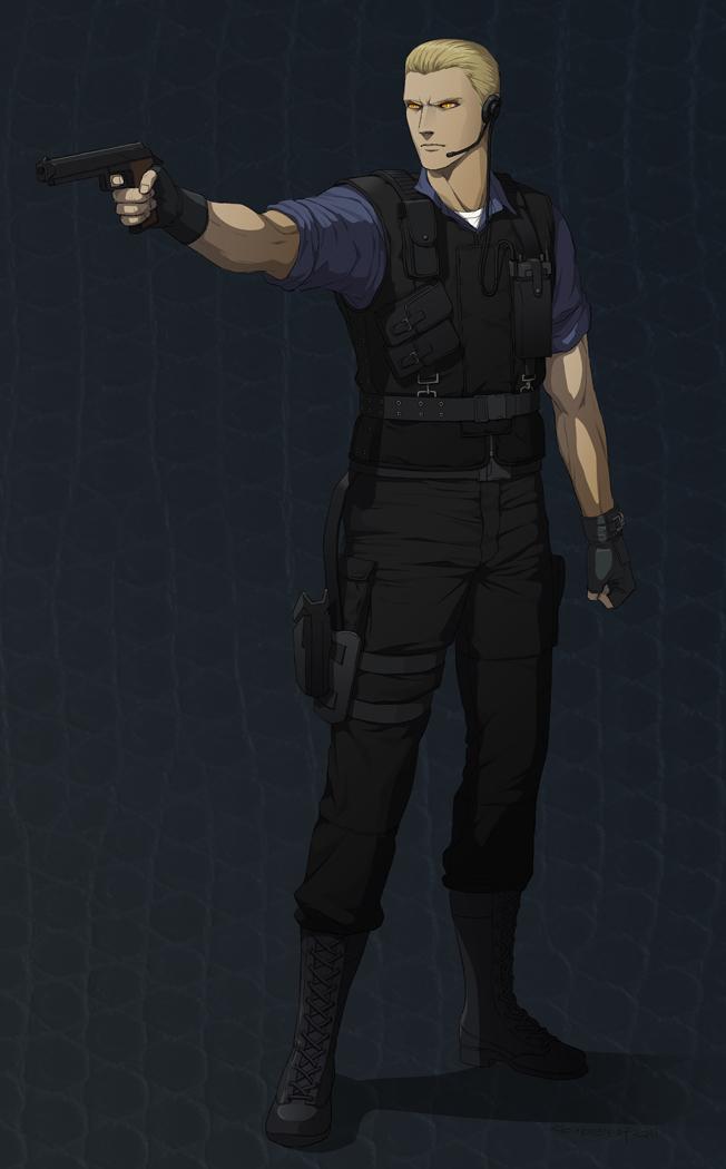 Tags: Anime, Doubleleaf, Resident Evil, Albert Wesker, Mobile Wallpaper