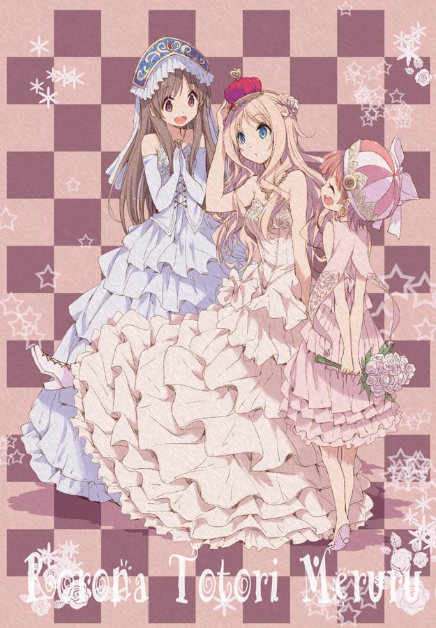 Tags: Anime, Hamayumiba Sou, Alchemist of Arland, Merurulince Rede Arls, Totooria Helmold, Rororina Fryxell, Mobile Wallpaper