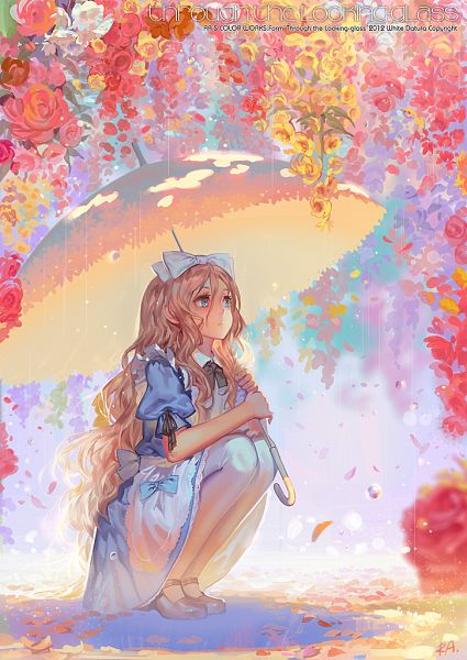 Tags: Anime, Alphonse, Alice in Wonderland, Alice (Alice in Wonderland), Wet, Wet Hair, Looking Up