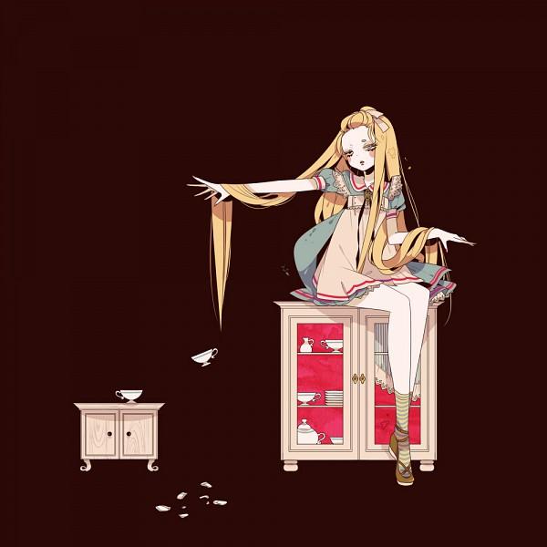 Tags: Anime, Shikimi, Alice in Wonderland, Alice (Alice in Wonderland), Red Nails, Cup, Broken