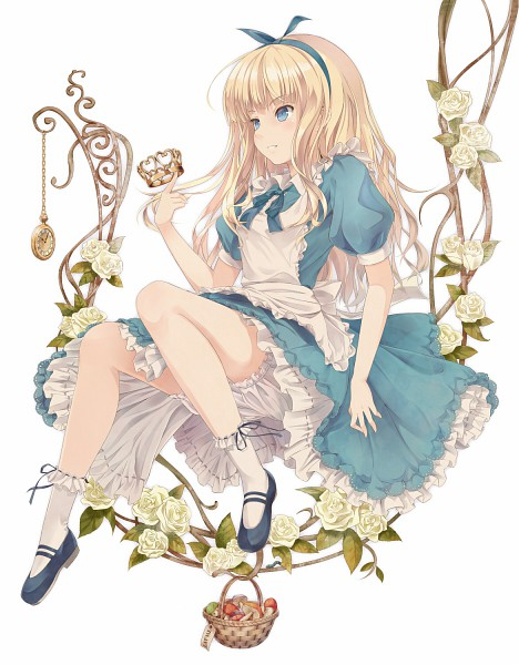 Tags: Anime, Supertie, Alice in Wonderland, Alice (Alice in Wonderland), White Flower, Pocket Watch, Watch