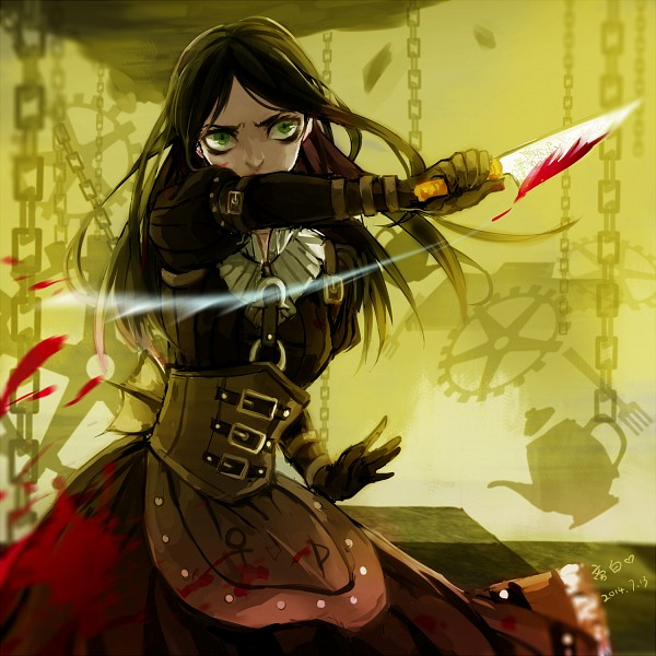 Tags: Anime, Pixiv Id 3423557, American McGee's Alice, American McGee's Alice: Madness Returns, Alice (American McGee's), Looking Ahead, Apron