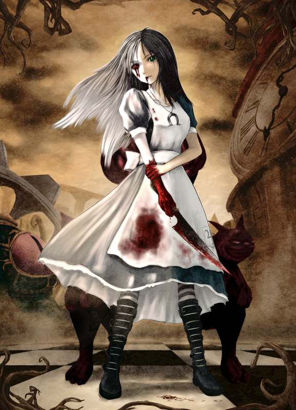 Tags: Anime, Pixiv Id 1485040, American McGee's Alice, American McGee's Alice: Madness Returns, Alice (American McGee's), Mobile Wallpaper, Fanart
