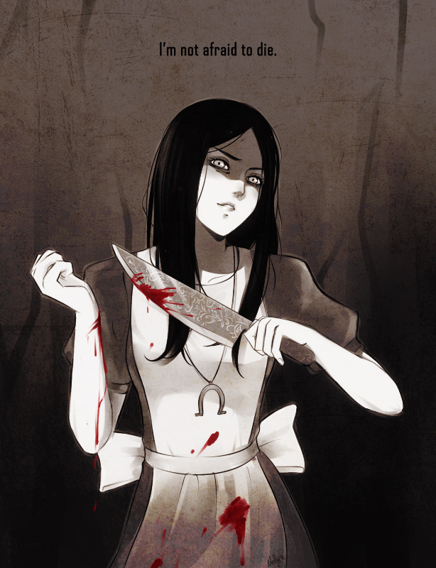Tags: Anime, Chocographs, American McGee's Alice, American McGee's Alice: Madness Returns, Alice (American McGee's), Blood On Weapons, Self-harm, deviantART, Fanart From DeviantART, Fanart