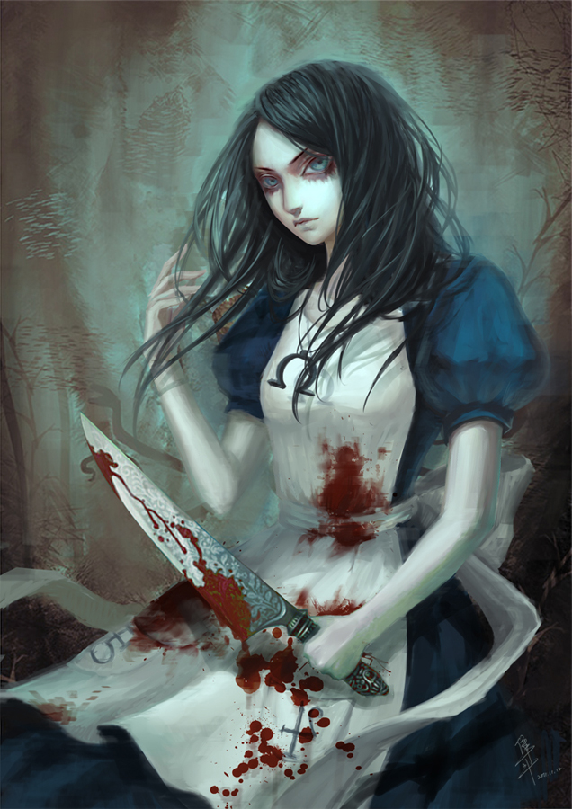 Tags: Anime, Jun Du, American McGee's Alice: Madness Returns, American McGee's Alice, Alice (American McGee's), Blood On Weapons, Fanart, Mobile Wallpaper, Fanart From Pixiv, Pixiv