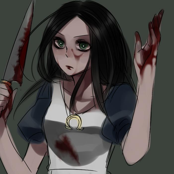 Картинки аниме девушка с ножом