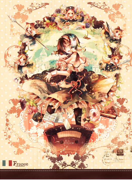 Tags: Anime, Kirero, Touhou, Shanghai, Alice Margatroid, Pie, Fanart, Mobile Wallpaper, Pixiv, Fanart From Pixiv, PNG Conversion
