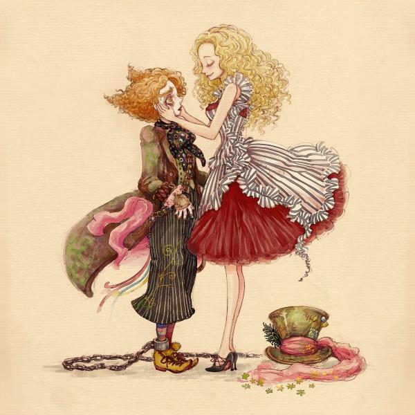 Tags: Anime, Hideandseek, Alice in Wonderland (2010 film), Alice in Wonderland, Tarrant Hightopp, Alice Kingsleigh, Looking Up