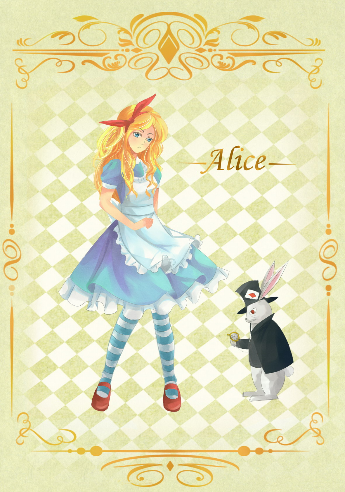 White apron alice in wonderland - Tags Anime Pixiv Id 2794506 Alice In Wonderland White Rabbit Alice