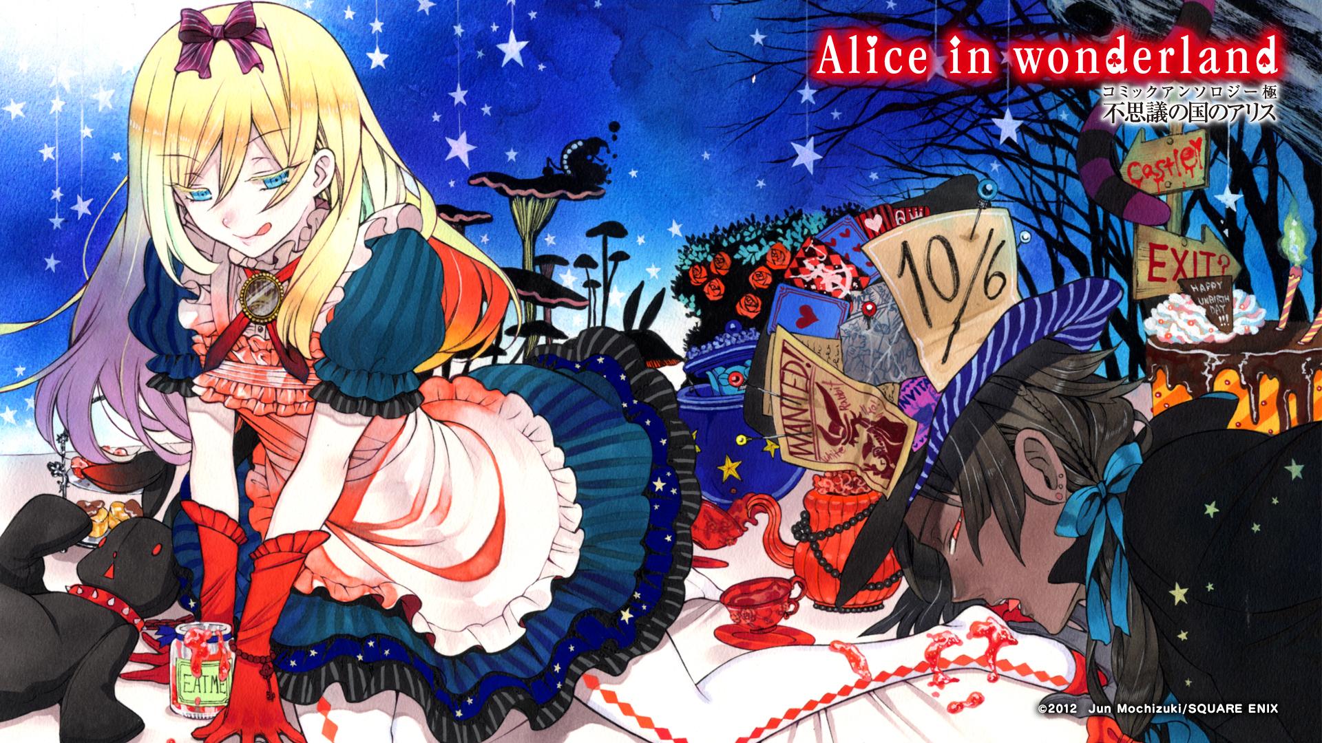 Alice In Wonderland Hd Wallpaper 1345797 Zerochan Anime Image Board