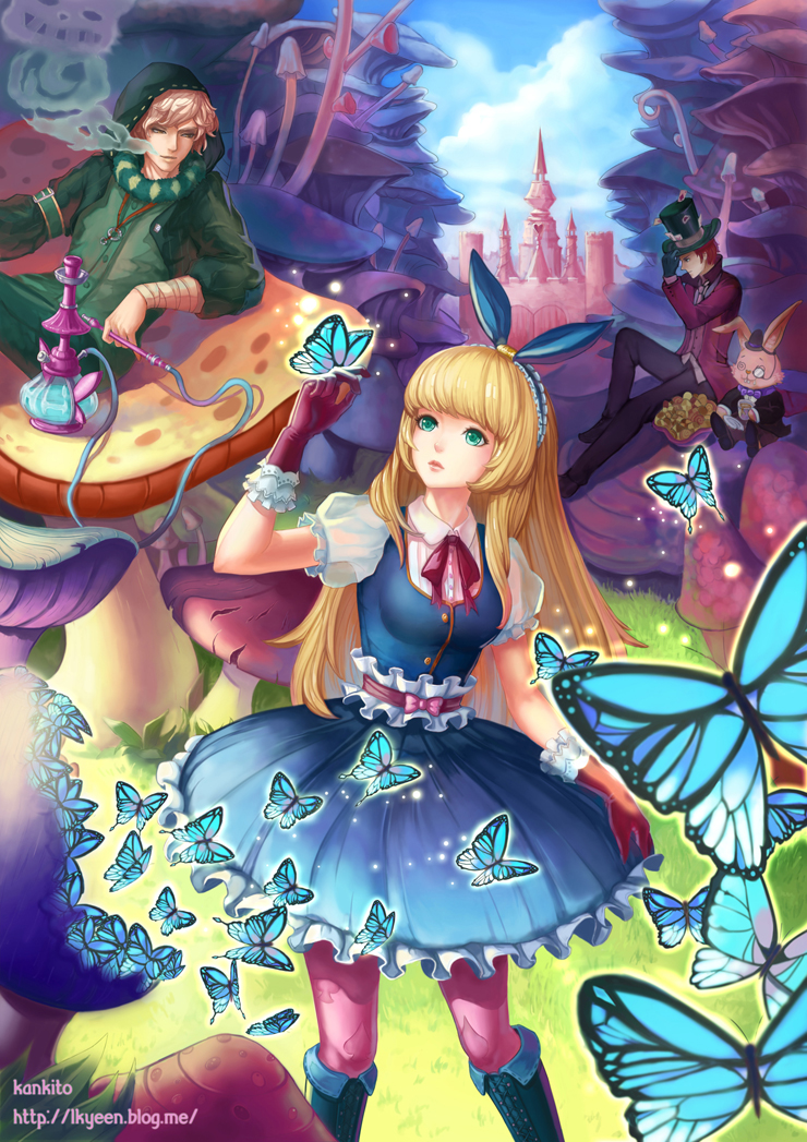 Alice in wonderland 1556909 zerochan for Fille au miroir
