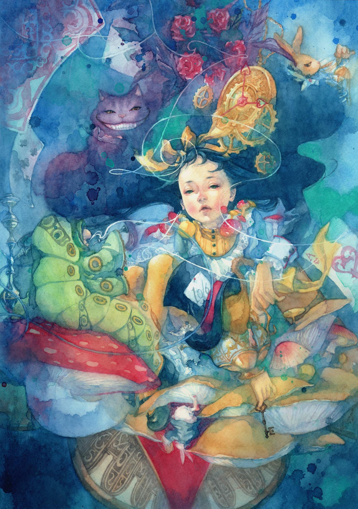 Alice In Wonderland Mobile Wallpaper 299617 Zerochan Anime