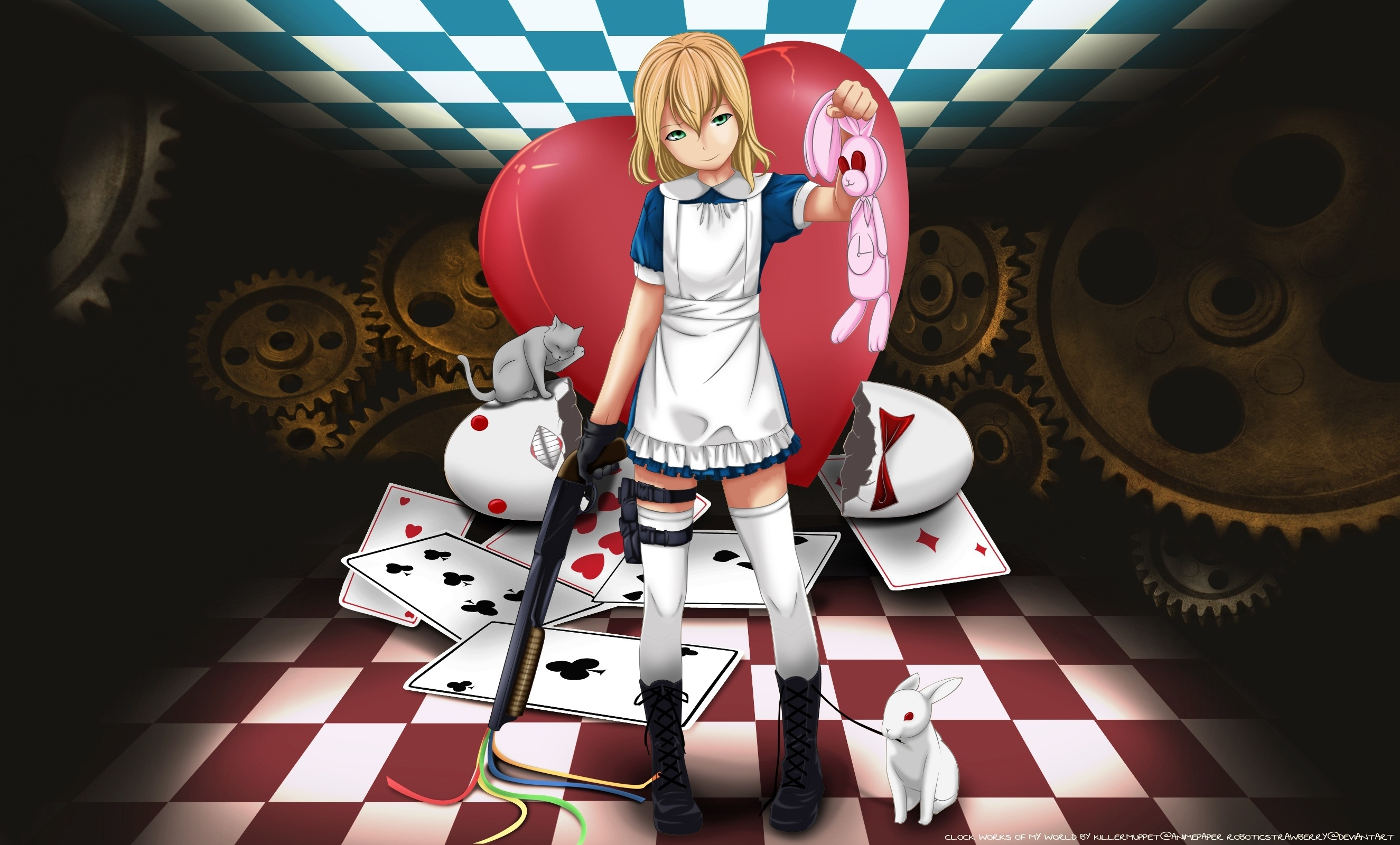 Alice in wonderland, alice (alice in wonderland), white rabbit, rabbit