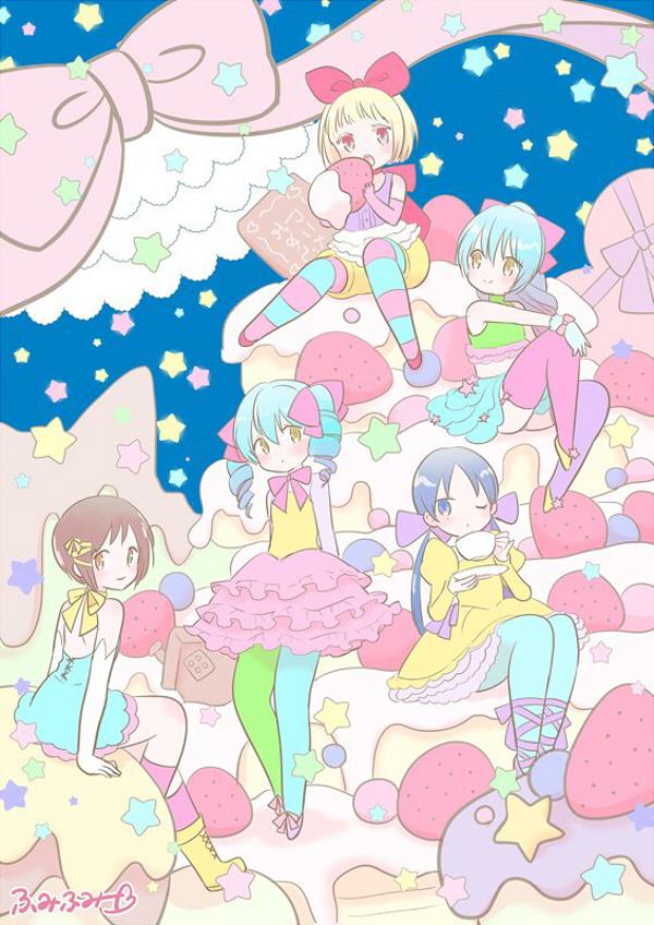 Tags: Anime, Alice to Zouroku, Shikishima Hatori, Hinagiri Yonaga, Hinagiri Asahi, Sana (Alice to Zouroku), Sweet Lolita, Twitter, Official Art
