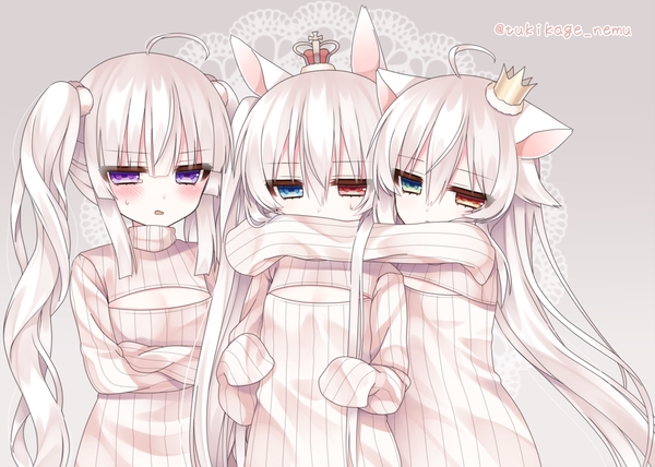 Tags: Anime, Alicerabbit, Eve Astroel, Alice Claudia, Roro Nowaru, Open-chest Sweater, Pixiv, Original, PNG Conversion