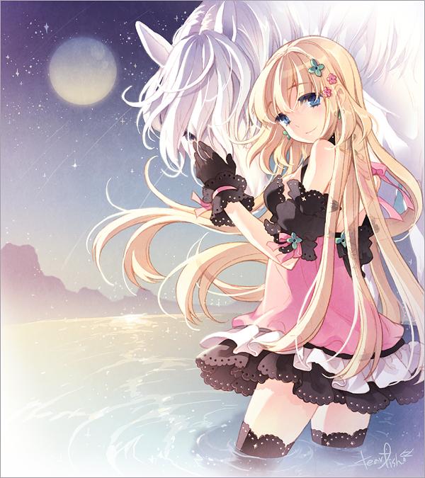 Tags: Anime, tearfish, Alicia (Game), Shooting Stars, Official Art, Pixiv