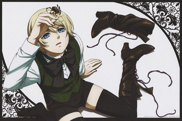 Tags: Anime, A-1 Pictures, Kuroshitsuji, Alois Trancy, Looking Up, Spider, Sitting on Floor