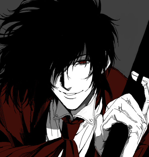 Tags: Anime, Komo (Sleepy), HELLSING, Alucard (Hellsing), Drawr, Fanart From Drawr, Fanart