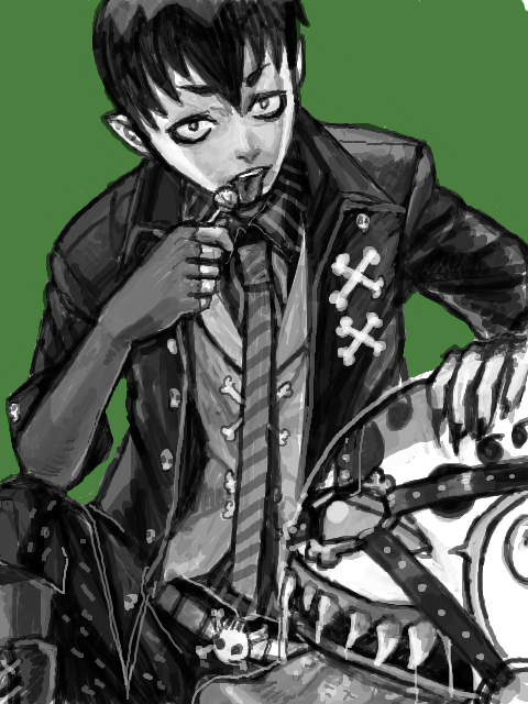 Tags: Anime, Ypyp, Ao no Exorcist, Amaimon, Sketch, PNG Conversion