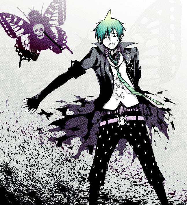 Tags: Anime, Pixiv Id 306889, Ao no Exorcist, Amaimon, Moth, Fanart, Migikata no Chou, Pixiv