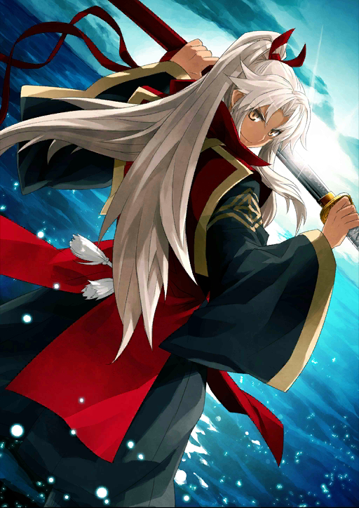 Tags: Anime, Konoe Ototsugu, DELiGHTWORKS, Fate/Grand Order, Kotomine Shirou (Fate/Apocrypha), Amakusa Shirou Tokisada, Official Card Illustration, Official Art