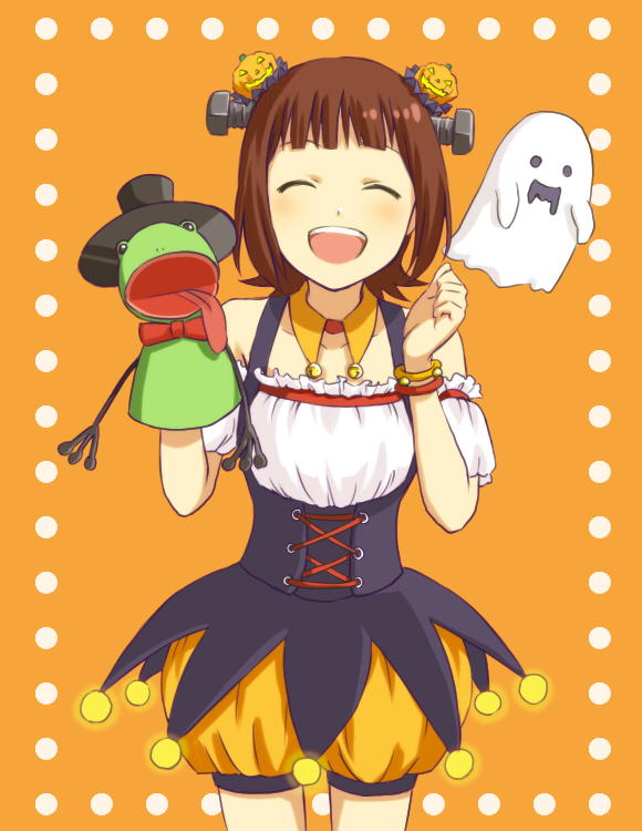 Tags: Anime, Pixiv Id 1418837, THE iDOLM@STER, Amami Haruka, Hand Puppet, Pixiv, Fanart From Pixiv, Fanart