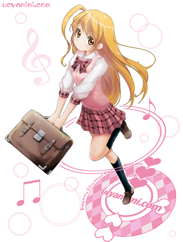 Tags: Anime, Music, Aerial View, Music Note, Looking Up, School Bag, Pretty Rhythm: Aurora Dream