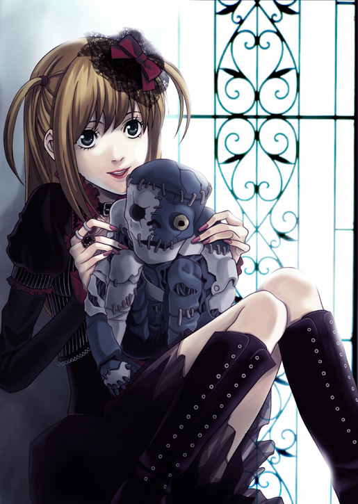 Tags: Anime, Pixiv Id 228612, DEATH NOTE, Amane Misa, Mobile Wallpaper, Pixiv