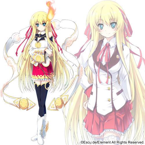 Tags: Anime, Escu:de, Kanojo Wa Sora Ni Inoranai, Amaterasu (Kanojo Wa Sora Ni Inoranai), Official Art