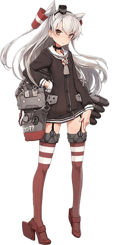 Tags: Anime, Shizuma Yoshinori, Kadokawa Games, Kantai Collection, Amatsukaze (Kantai Collection), Rensouhou-kun, Official Art, Cover Image, PNG Conversion