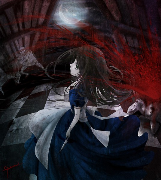 Tags: Anime, Alice in Wonderland, American McGee's Alice, Cheshire Cat, Alice (American McGee's), Dagger