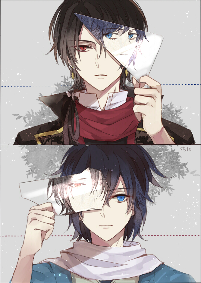 Tags: Anime, Xiaoxue, Touken Ranbu, Yamato no Kami Yasusada, Kashuu Kiyomitsu, Fanart From Pixiv, Mobile Wallpaper, Pixiv, Fanart, AnMitsu (Pairing)