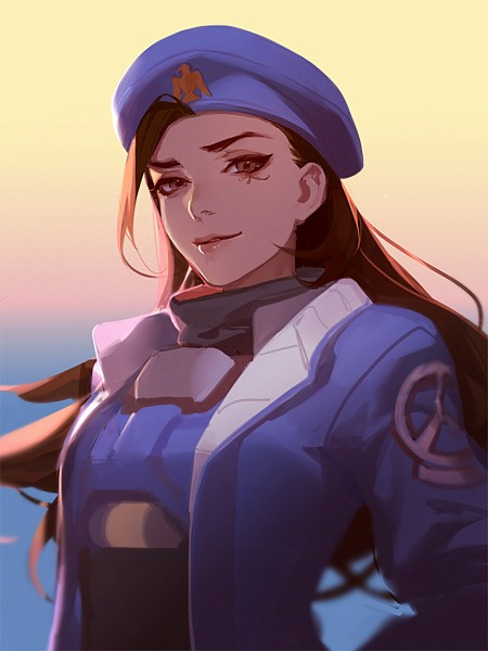 Tags: Anime, Asukaziye, Overwatch, Ana (Overwatch), 3:4 Ratio, Blue Hat, Blue Headwear