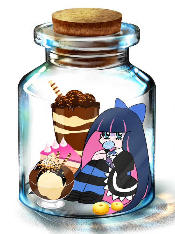 Tags: Anime, Panty and Stocking With Garterbelt, Anarchy Stocking, Pixiv Bottle, In a Bottle, Pixiv, Wallpaper, Fanart