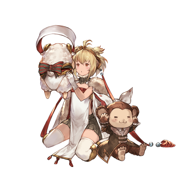 Tags: Anime, Pixiv Id 2335, Granblue Fantasy, Anchira (Granblue Fantasy), Monkey, PNG Conversion