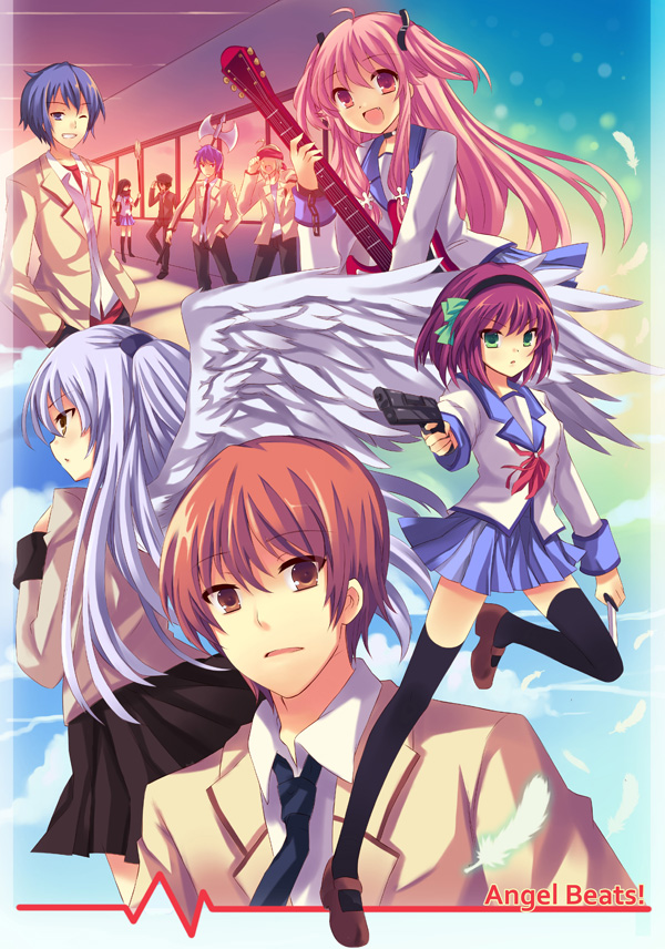 Tags: Anime, PCManiac88, Angel Beats!, Tachibana Kanade, TK (Angel Beats!), Hinata Hideki, Noda (Angel Beats!), Nakamura Yuri, Otonashi Yuzuru, Shiina Eri, Yui (Angel Beats!), Naoi Ayato, Pixiv
