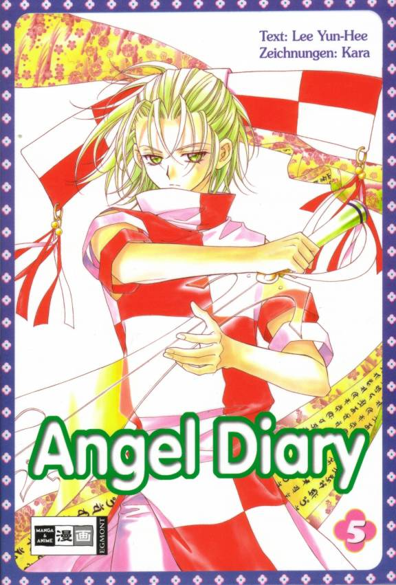 Tags: Anime, Kara (Artist), Angel Diary, Official Art, Manga Cover, Scan
