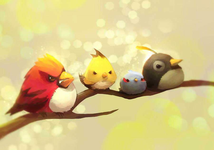 Blue Bird Angry Birds Zerochan Anime Image Board