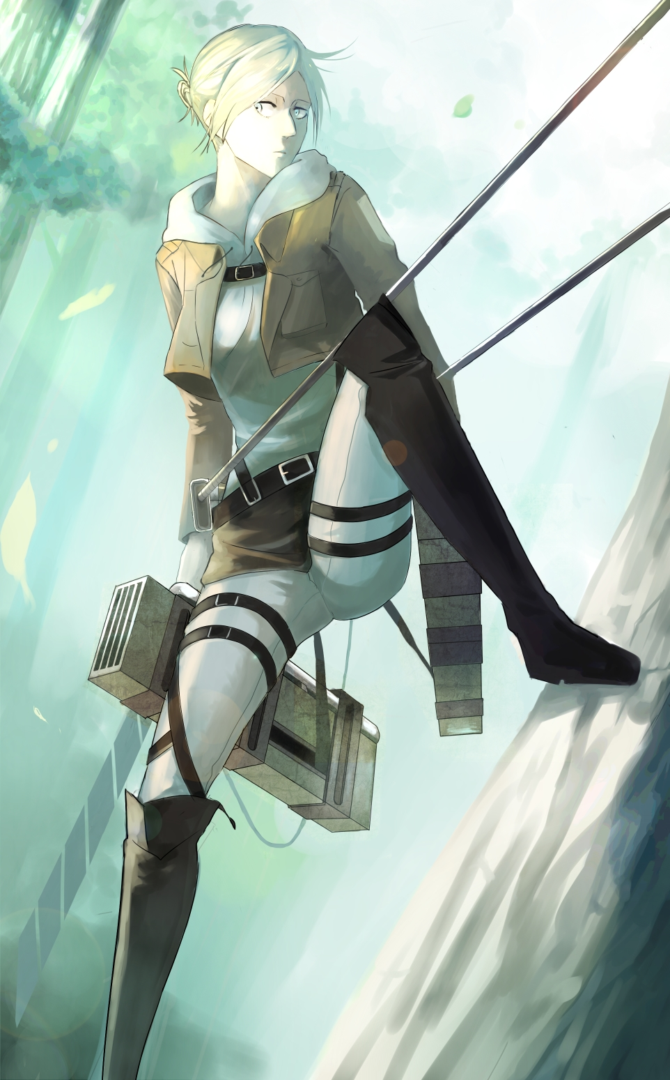 Annie Leonhardt Attack On Titan Mobile Wallpaper 1561216 Zerochan Anime Image Board
