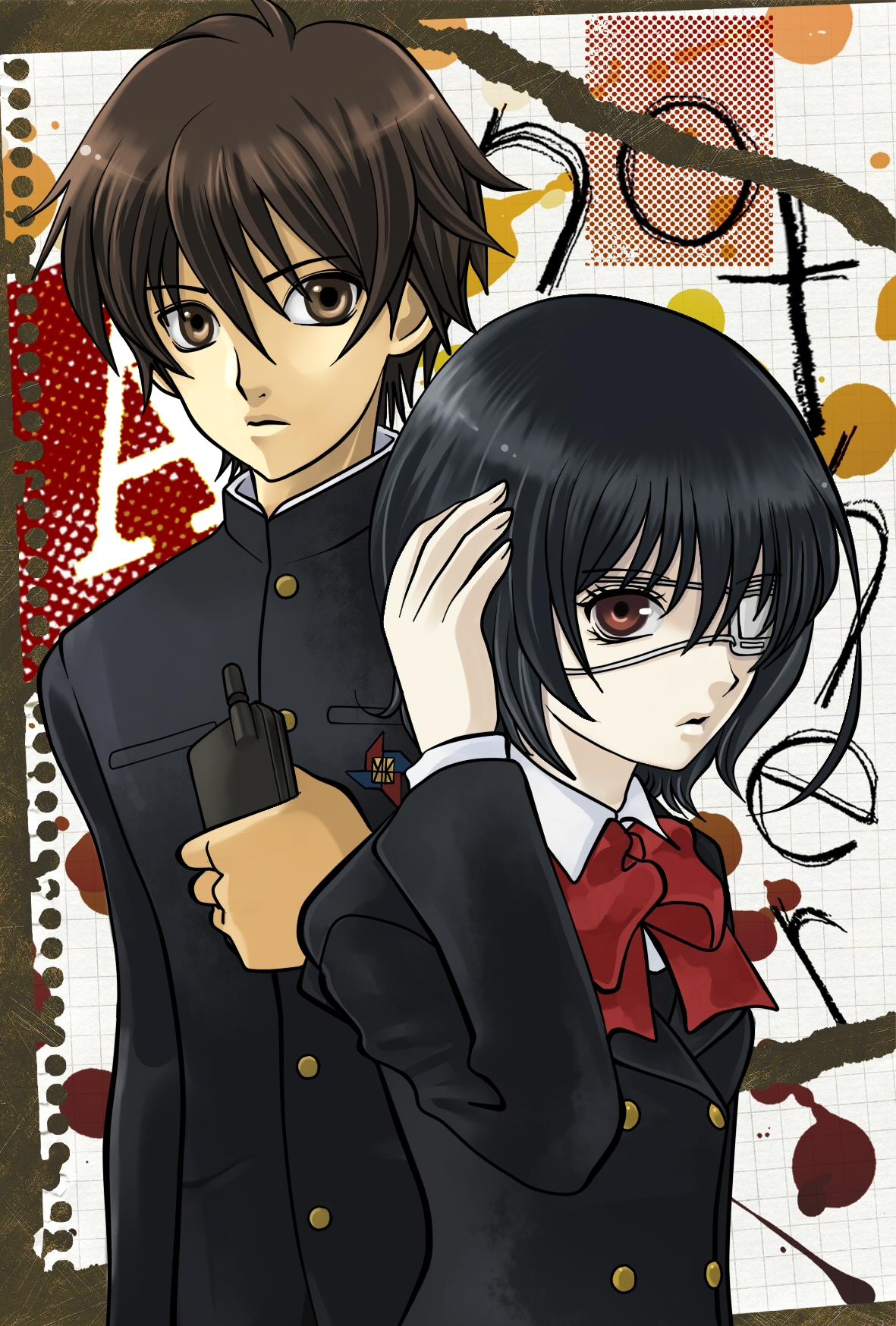 Another/#1034533 - Zerochan Another Kouichi And Misaki